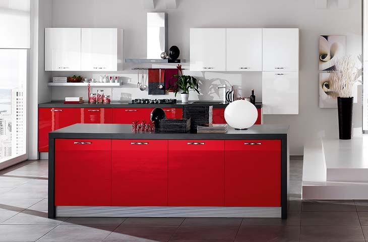 Cucina Rossa Scavolini. Cucina Moderna Rossa E Bianca. Cucina ...