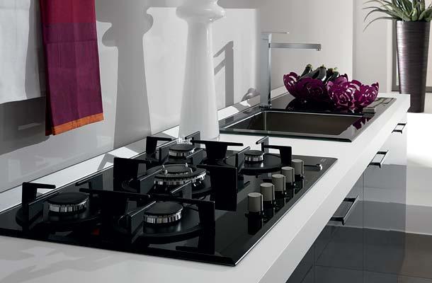Iezzi catalogo cucine moderno orchidea grigia for Lavello nero