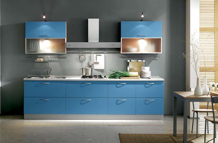 Iezzi catalogo cucine moderno serena azzurro - Colore parete cucina noce ...