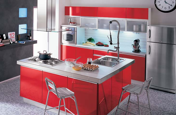 Iezzi catalogo cucine moderno - Cucina bianca e rossa ...